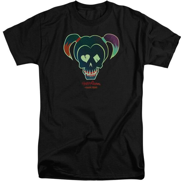 Suicide Squad Harley Skull Short Sleeve Adult Tall T-Shirt