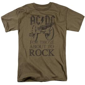 Acdc For Those About To Rock Short Sleeve Adult Safari T-Shirt