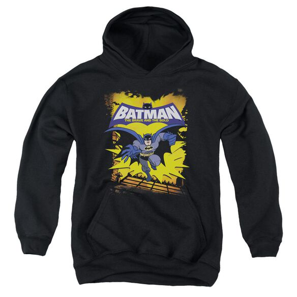 Batman Bb Rooftop Leap Youth Pull Over Hoodie