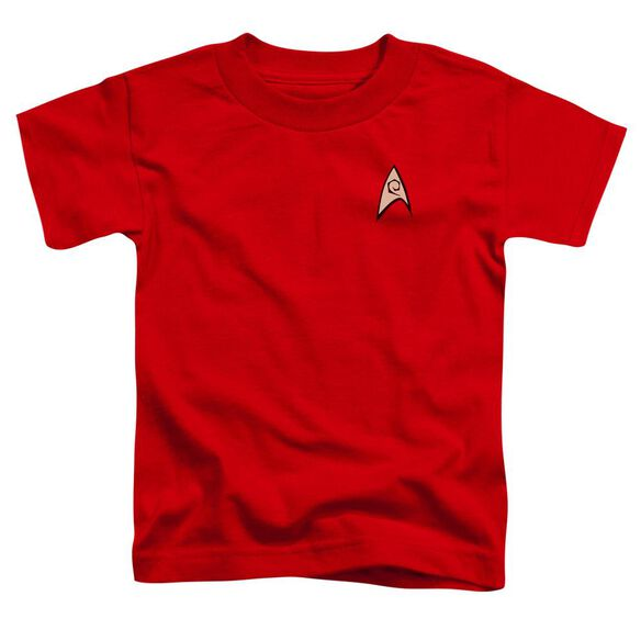 Star Trek Engineering Uniform Short Sleeve Toddler Tee Red Lg T-Shirt