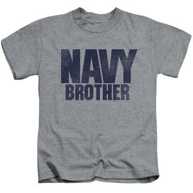Navy Brother Short Sleeve Juvenile Athletic T-Shirt