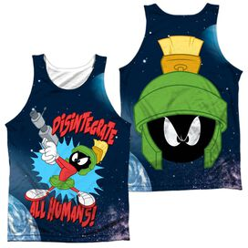 Looney Tunes Disintergrate (Front Back Print) Adult Poly Tank Top