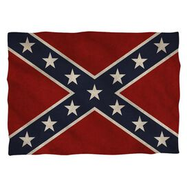Old Confederate Flag Pillow Case White