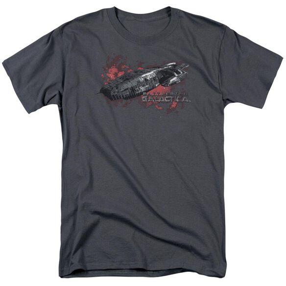 BSG GALACTICA - S/S ADULT 18/1 - CHARCOAL T-Shirt