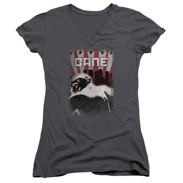 Dark Knight Rises Bane Poster Junior V Neck T-Shirt