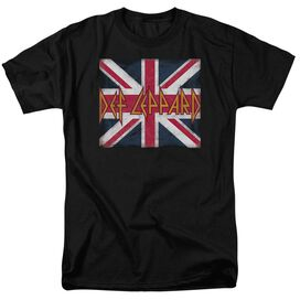Def Leppard Union Jack Short Sleeve Adult T-Shirt