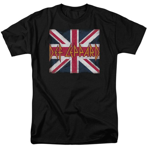 Def Leppard Union Jack Short Sleeve Adult T-Shirt