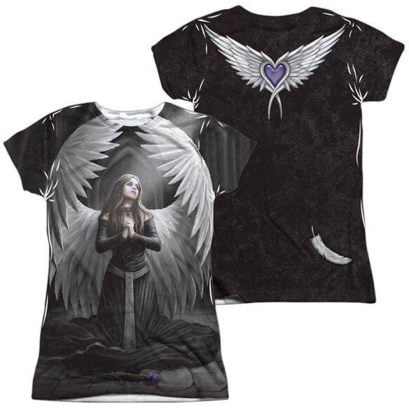 Anne Stokes Prayer For The Fallen (Front Back Print) Short Sleeve Junior Poly Crew T-Shirt