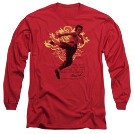 BRUCE LEE IMMORTAL DRAGON - L/S ADULT 18/1 - RED T-Shirt