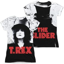 The Slider Cover (Front Back Print) Short Sleeve Junior Poly Crew T-Shirt