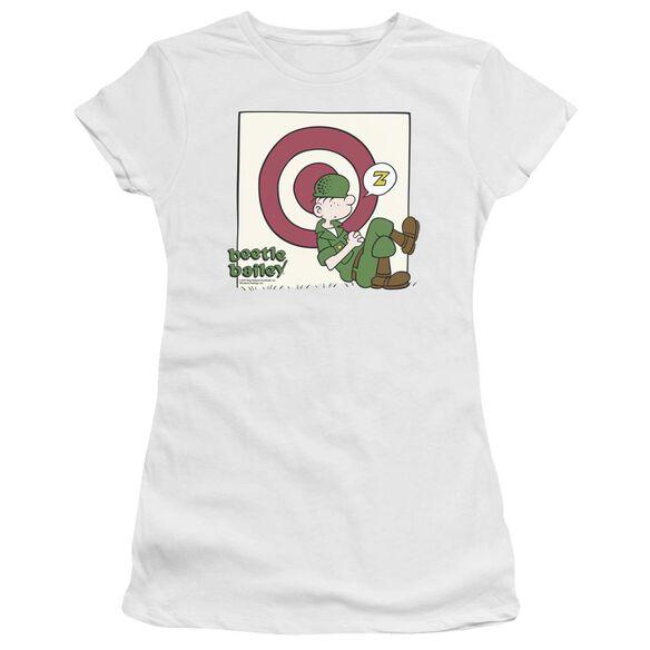 Beetle Bailey Target Nap Short Sleeve Junior Sheer T-Shirt