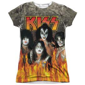Kiss Through The Fire Short Sleeve Junior Poly Crew T-Shirt