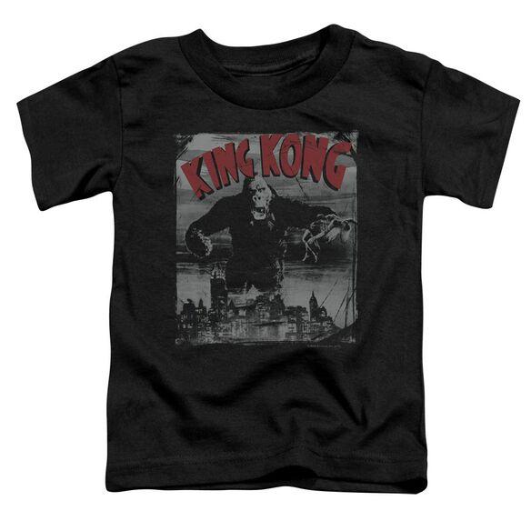 King Kong City Poster Short Sleeve Toddler Tee Black T-Shirt