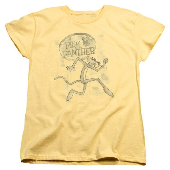 Pink Panther Catch Me Short Sleeve Womens Tee T-Shirt