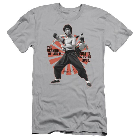 Bruce Lee Meaning Of Life Short Sleeve Adult T-Shirt