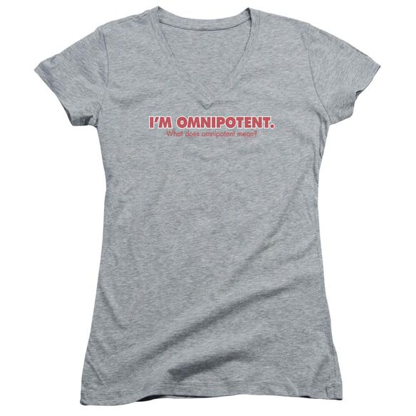 Omnipotent Junior V Neck Athletic T-Shirt
