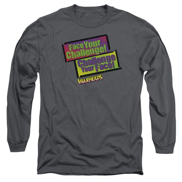 Warheads Face Your Challenge Long Sleeve Adult T-Shirt