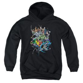 Batman Saints And Psychos-youth Pull-over Hoodie - Black