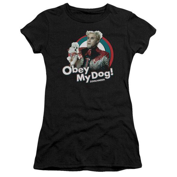 Zoolander Obey My Dog Premium Bella Junior Sheer Jersey