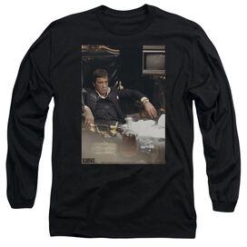 Scarface Sit Back Long Sleeve Adult T-Shirt