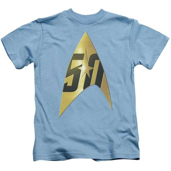 Star Trek 50 Th Anniversary Delta Short Sleeve Juvenile Carolina Blue T-Shirt