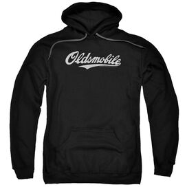 Oldsmobile Oldsmobile Cursive Logo Adult Pull Over Hoodie Black