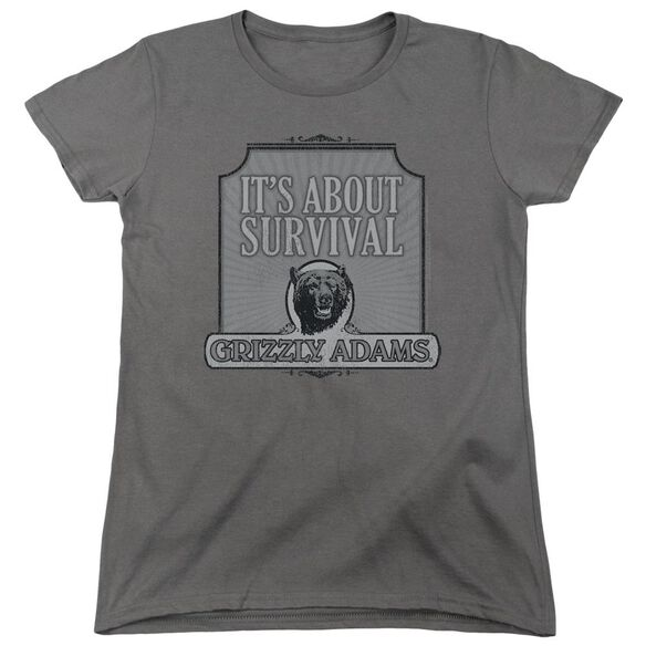 Grizzly Adams Survival Short Sleeve Women's Tee T-Shirt