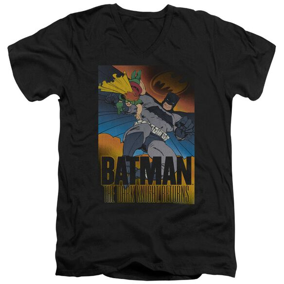 Batman Dk Returns Short Sleeve Adult V Neck T-Shirt