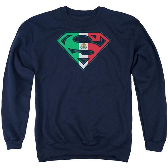 Superman Mexican Shield Adult Crewneck Sweatshirt