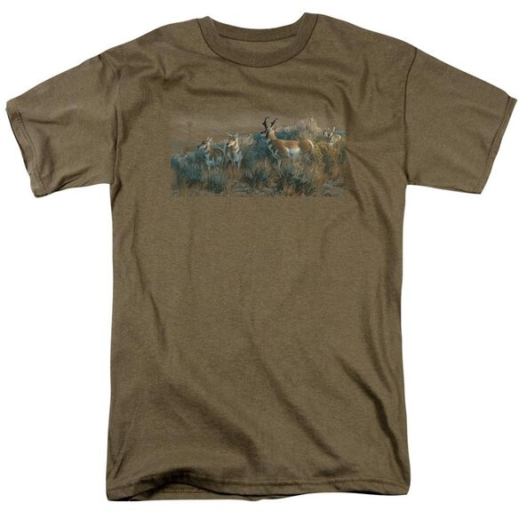 Wildlife Water Rights Short Sleeve Adult Safari Green T-Shirt