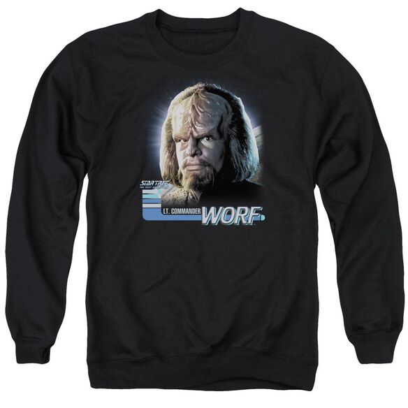 Star Trek Tng Worf Adult Crewneck Sweatshirt