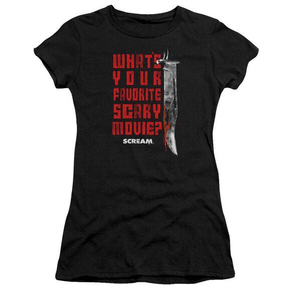 Scream Favorite Short Sleeve Junior Sheer T-Shirt
