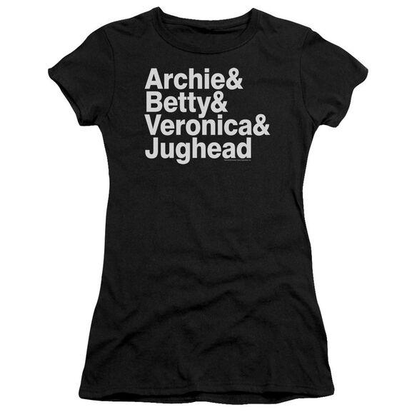 Archie Comics Ampersand List Short Sleeve Junior Sheer T-Shirt