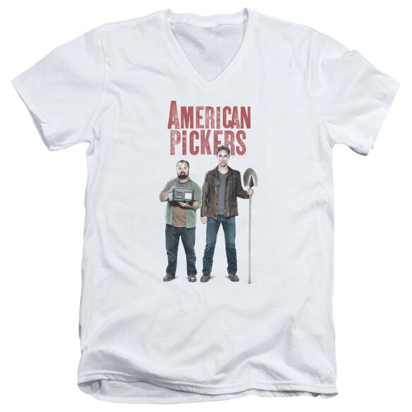 American Pickers American Profit Short Sleeve Adult V Neck T-Shirt