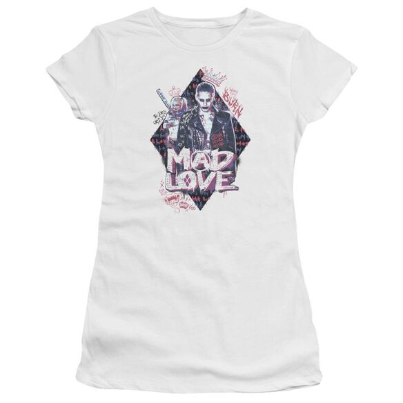 Suicide Squad Mad Love Hbo Short Sleeve Junior Sheer T-Shirt