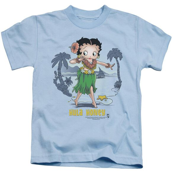 Betty Boop Hula Honey Short Sleeve Juvenile Carolina Blue T-Shirt