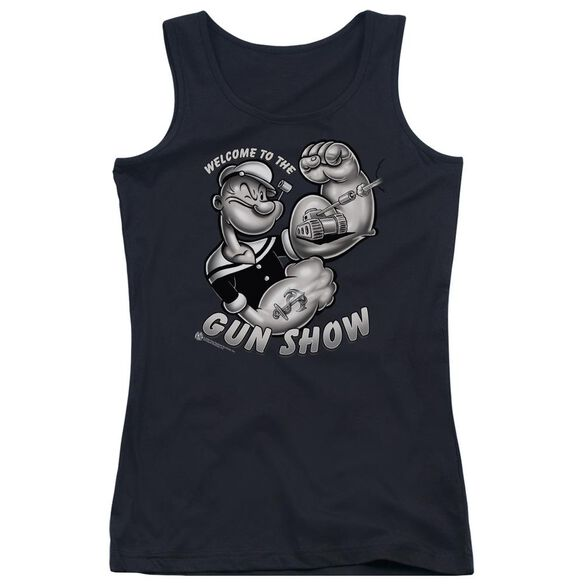 Popeye Gun Show Juniors Tank Top