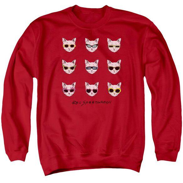 Reo Speedwagon Cattitude Adult Crewneck Sweatshirt