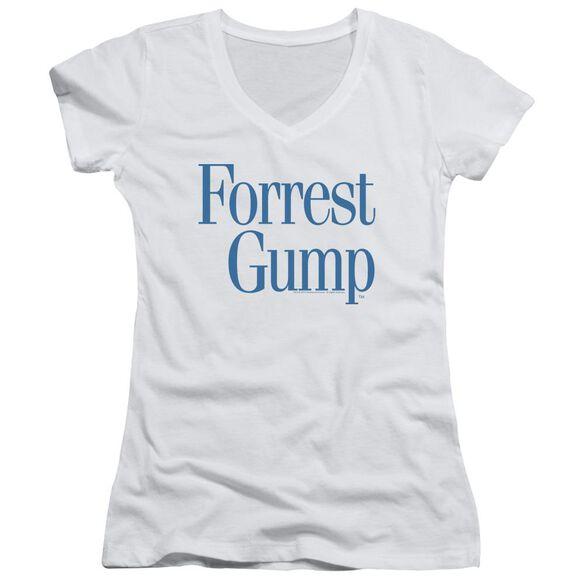 Forrest Gump Logo Junior V Neck T-Shirt