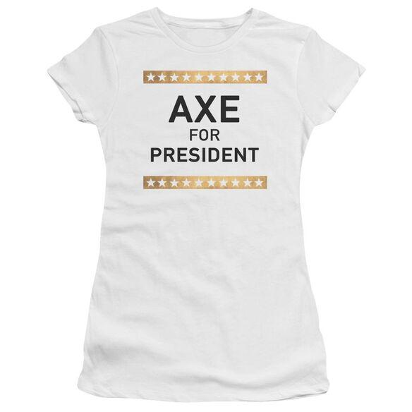 Billions Axe For President Hbo Short Sleeve Junior Sheer T-Shirt