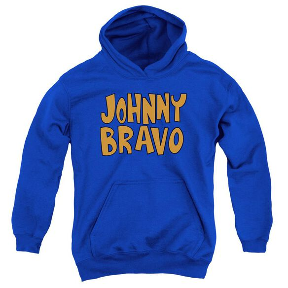 Johnny Bravo Jb Logo Youth Pull Over Hoodie