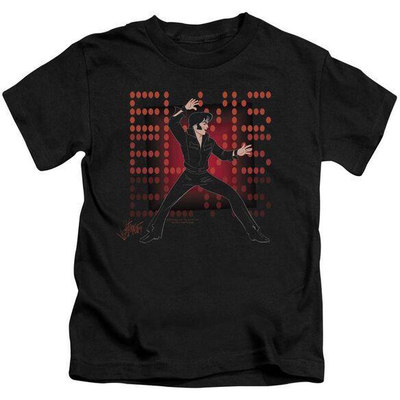 Elvis 69 Anime Short Sleeve Juvenile Black T-Shirt