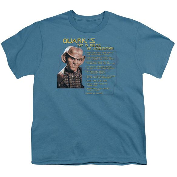 Star Trek Quark's Rules Short Sleeve Youth T-Shirt