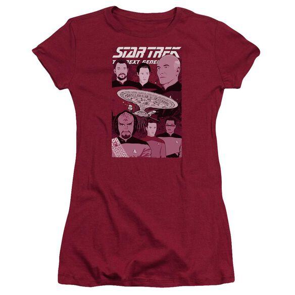 Star Trek Captain And Crew Hbo Short Sleeve Junior Sheer T-Shirt
