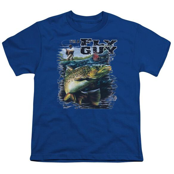 Wildlife I'm A Fly Guy Short Sleeve Youth Royal T-Shirt