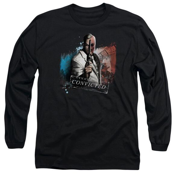 Arkham City Two Face Long Sleeve Adult T-Shirt
