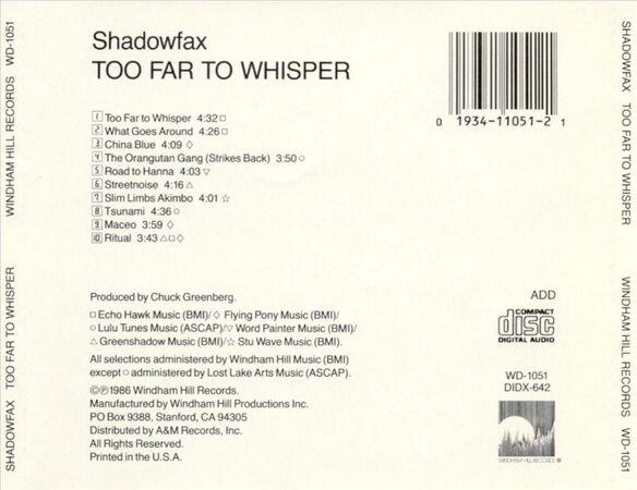 Too Far To Whisper 0592