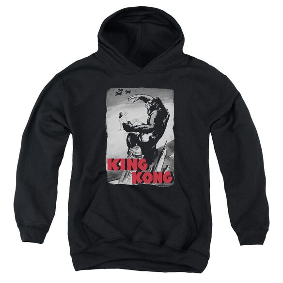 King Kong Planes Poster Youth Pull Over Hoodie