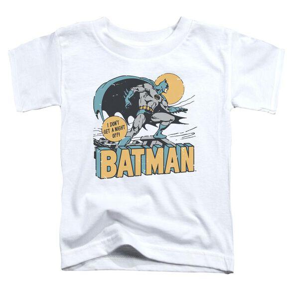 Dc Night Off Short Sleeve Toddler Tee White T-Shirt