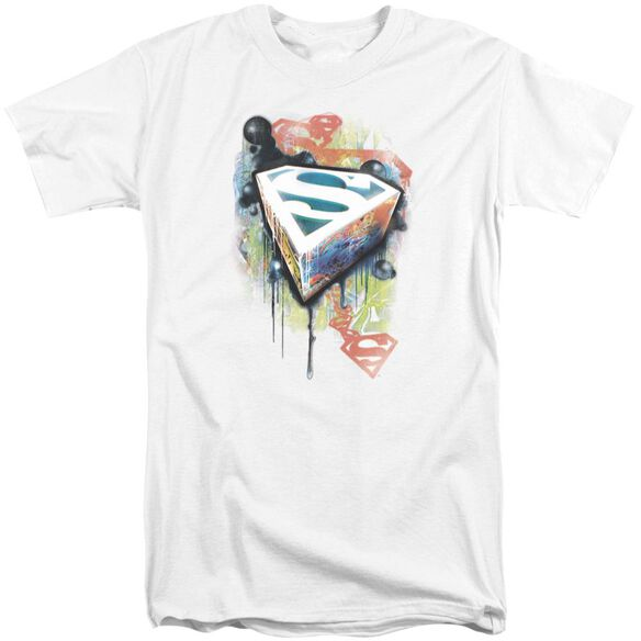 Superman Urban Shields Short Sleeve Adult Tall T-Shirt